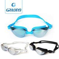 Top brand anti-fog cililione waterproof siwimming goggles