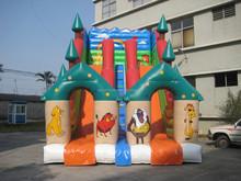 Animal Kingdom lion tiger inflatable double slide for sale