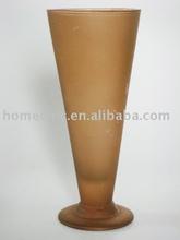 spring brown glass vase