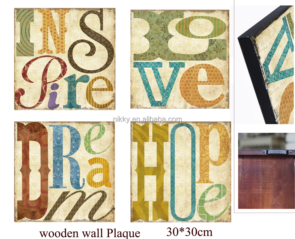 Decorative Wall Plaque,Shabby Chic Home Accessories,Wooden Signs ...
