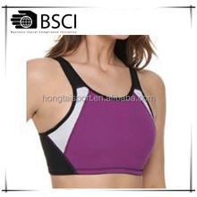 young ladies sexy bra sport underwear Hongtai running top capri bra active wear for lady sexy sports with BSCI audit factory