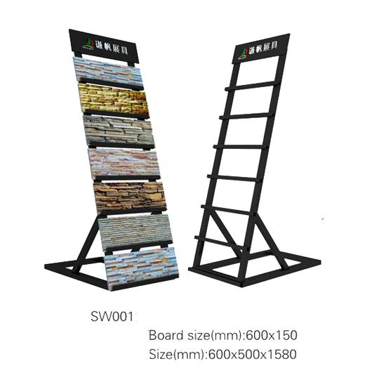 Portable Exhibition Unit : Sw portable retail stone veneer display rack unit buy