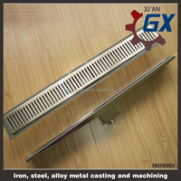 Stainless steel Side outlet linear drain/linear shower drain/linear floor drainage