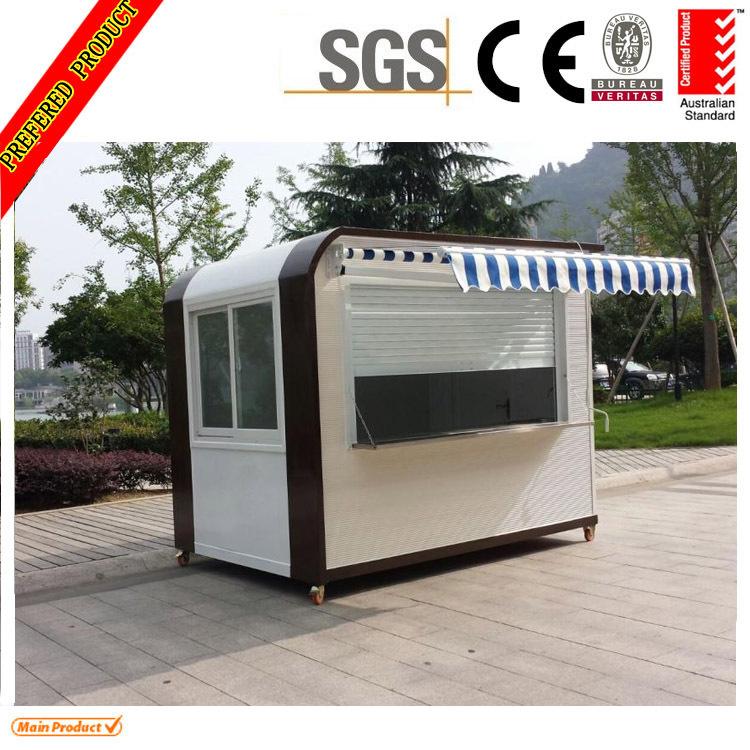 Mobile food kiosk mobile coffee shop with wheels design for Mobili kios
