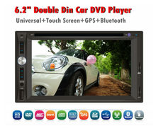 6.2 inch Screen 2 Two din Pure Android 4.4 car dvd player in dash Universal Radio Gps+wifi+3G+BT+178*100mm