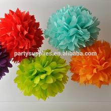 suave y esponjosa de colores de papel de seda pompones de diferentes tamaños