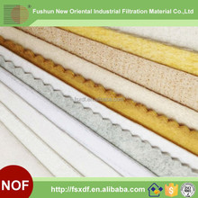 Alibaba express high quality air filter raw material/Cloth dust collecting