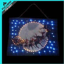 christmas lighted wall hanging tapestry