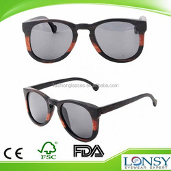2015 Top selling wooden sunglasses made in china,100% handmade natura wood