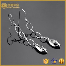 New products long cartilage earring fashion jewelry 925 sterling silver earrings manufacturer jewellery wholesale china