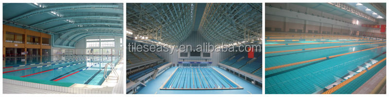 Blue ceramic tile for swimming pool nosing view ceramic tile for swimming pool nosing for Swimming pool construction materials