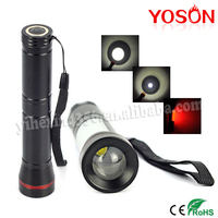 BORUIT hot-selling white and red flashlight torch for camping sport