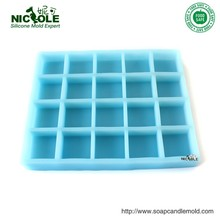 Natural Handmade Nicole Blue Color Silicone Molds