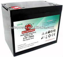 high battery for solar home system 12v70ah