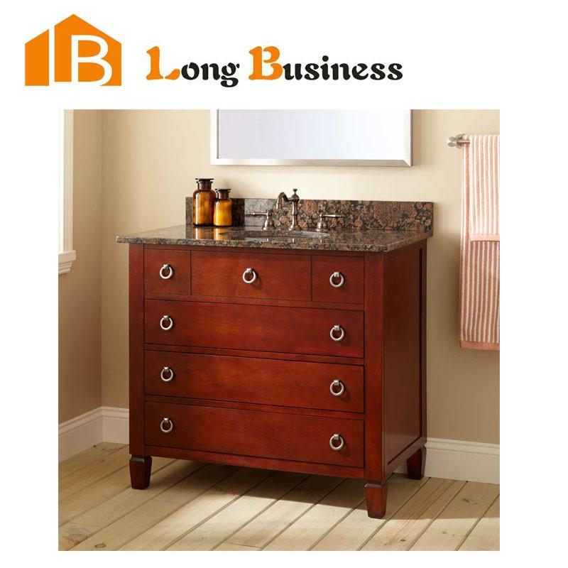 Lb lx2105 wholesale waterproof solid wood modern bathroom for Waterproof bathroom cabinets
