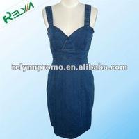 summer fashion ladies jeans suspender skirt/dress