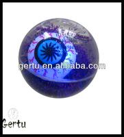 High quality LED Eyes Glitter Liquid bouncing ball
