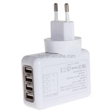 Factory Direct UK,EU,US,AU Plugs Smart USB Travel Mobile Phone 4 Port Charger