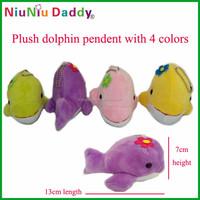 40pcs/lot Plush dolphin pendent 4 colors Plush toys wholesale