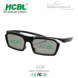 Recyclable ABS Frame 3D Glasses For volfoni x-mirror passive 3d system in cinema