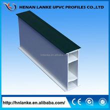 Henan Lanke factory price upvc profiles 4 track upvc sliding window