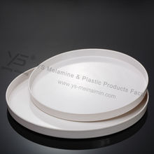 plastic dinner set rounded serving trays made in China