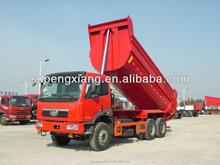 6*4 U style hopper GUM dump truck (jiefang Chassis)