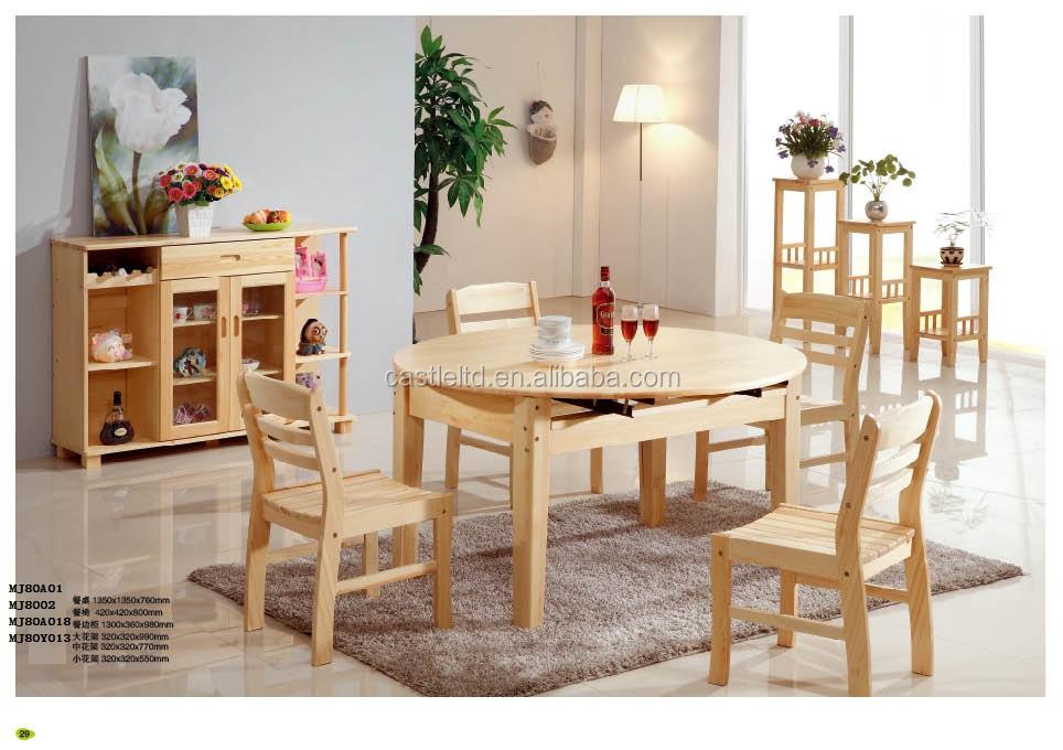 En bois h tel restaurant home table de salle manger pin massif bois ta - Salle a manger pin massif ...