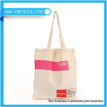 logo printed promotional cotton canvas tote bag long handle