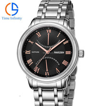 3atm water resistant stainless steel watch, watch luxury men high quality ,day date month watch movement