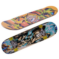 3108BC-9UT5036B Chinese maple four wheels graphic concave skateboard