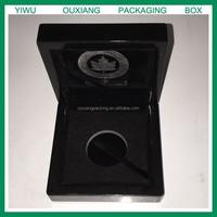 piano black lacquer finish small coin wooden box hot sale