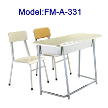 No.FM-A-331 Steel frame two seats student desk and chair set