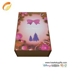 2015 New Design Christmas folding gift paper box gift paper box printing With Customized Logo