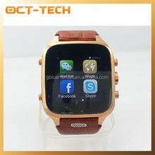 3G smart watch leather strip,New GPS bluetooth watch phone