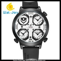 WJ-5053 wholesale brand men multi time zone 3atm waterproof silicone sport WEIDE watch