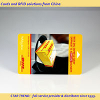 Customized printed hotel key card - ISO pvc MSR card with full colors printing
