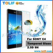 Factory price hgh quality anti oil fingerprint tempered glass for sony xperia C4 m2 m4 matte glass screen protector