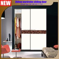 Zhihua 2016 Latest design luxury partition wall sliding doors / aluminium sliding wardrobe doors