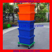 100% Virgin PP Stackable Moving Sealing Up Crate