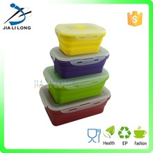 Trade Assurance Supplier collapsible silicone lunch box set