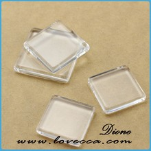 Square Transparent Clear Magnifying Glass Cabochons Settings VI