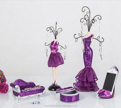 Wedding Jewelry rack set resin jewelry display rack
