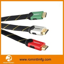 Colorfull Charming HDMI Flat Cable for HDTV VCD DVD and AV etc.