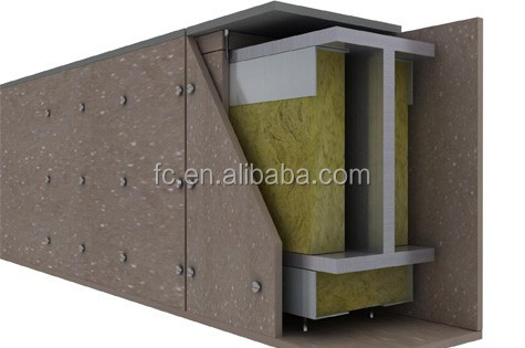 Modular fire wall high strength fire protection for Moisture resistant insulation