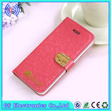Top Quality Stylish Bling Wallet Case For Iphone 5 Factory Price