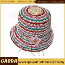 Lady paper crochet hat/women's dress hat/summer hat