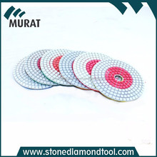 125mm Diamond Resin Bond Polishing Pads for stone grinding