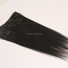New fashionable hair extension with clips ,hair extension outlet, cheap brazilian human hair clip in hair extension