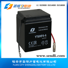 Mini rechargeable Lead acid battery /dry charge vented motorcycle battery 6v 4ah 6N4A-4D